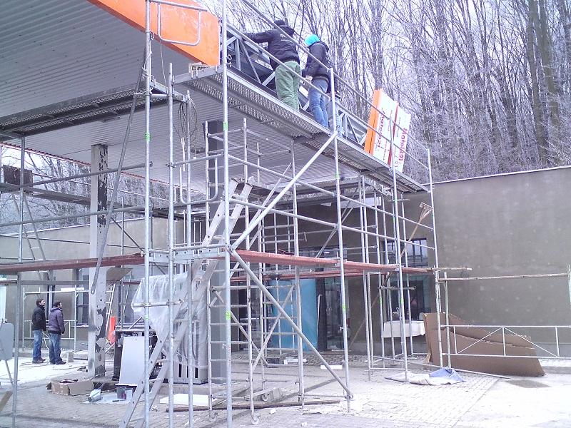 Prenájom lešenia čerpacia stanica Jerichov