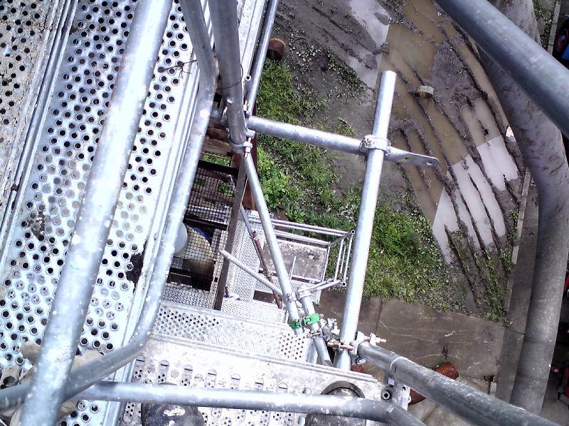 Prenájom lešenia – revitalizácia odstrukovacieho potrubia ENO Nováky
