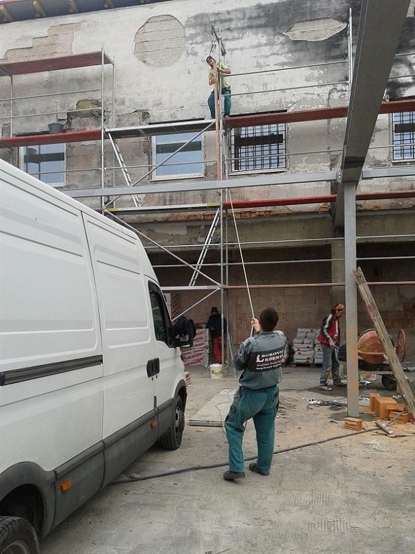 Prenájom lešenia  tržnica Púchov pre Uniprastav Čereňany