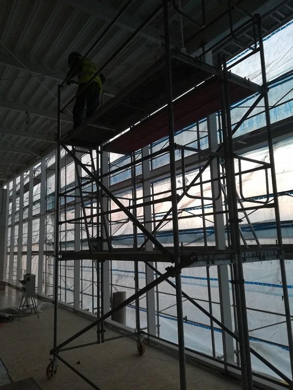 Prenájom pojazdného lešenia LIDL Bojnice pre Hydrometal s.r.o. Podbrezová