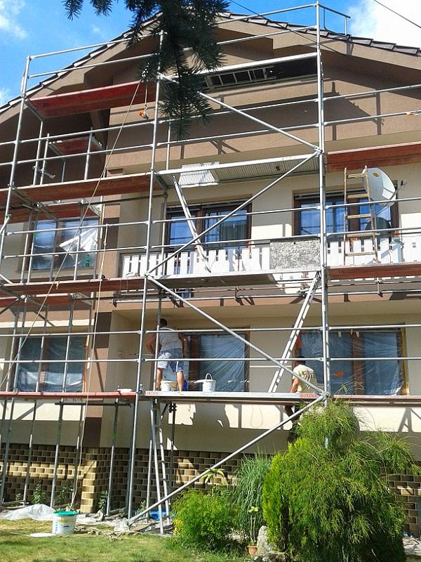 Renovácia arevitalizácia novej fasády RD Partizánske